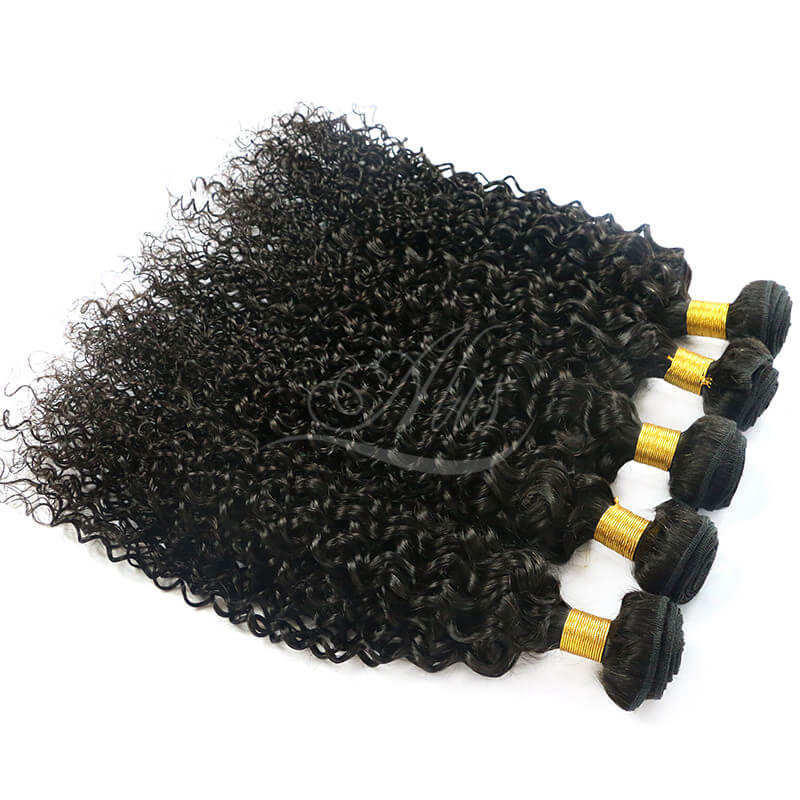 8A ALIS Brazilian Hair Curly Hair Extensions Natural Black
