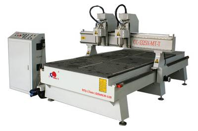 DOUBLE HEADS HEAVY LATHE BED WOODWORKING CNC ROUTER--CC-M1325BH