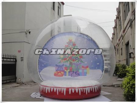 Christmas hot sale snowglobe inflatable snowglobe good price