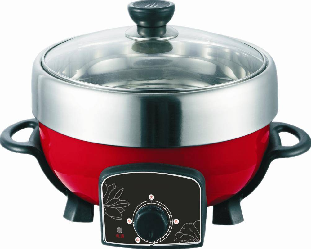 Model#JHG0512 fry cooker and hot pot