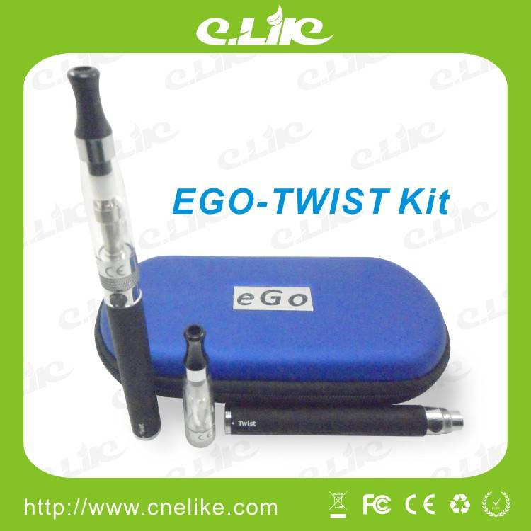 Hottest Rechargeble E Cigarette, electronic cigarette CE4 atomizer EGO Twist Battery