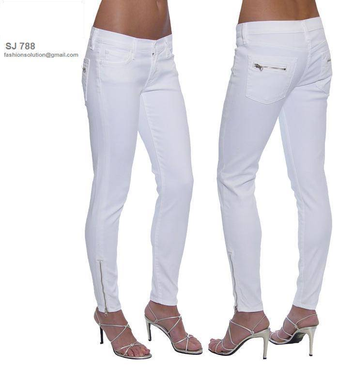 Ladies Skinny Pencil Jeans