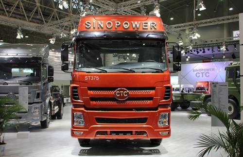 China Famous Brand SINO POWER-CTC 6x4 red tractor