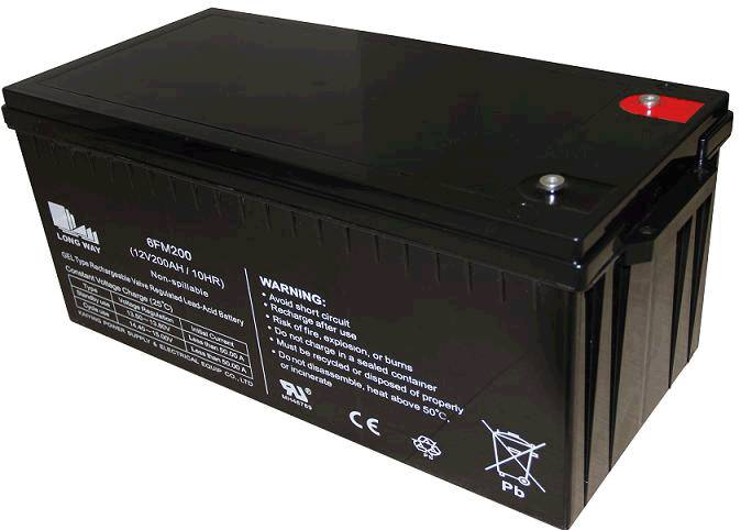 sealed lead acid battery/6FM200GEL(12V200ah/10hr)