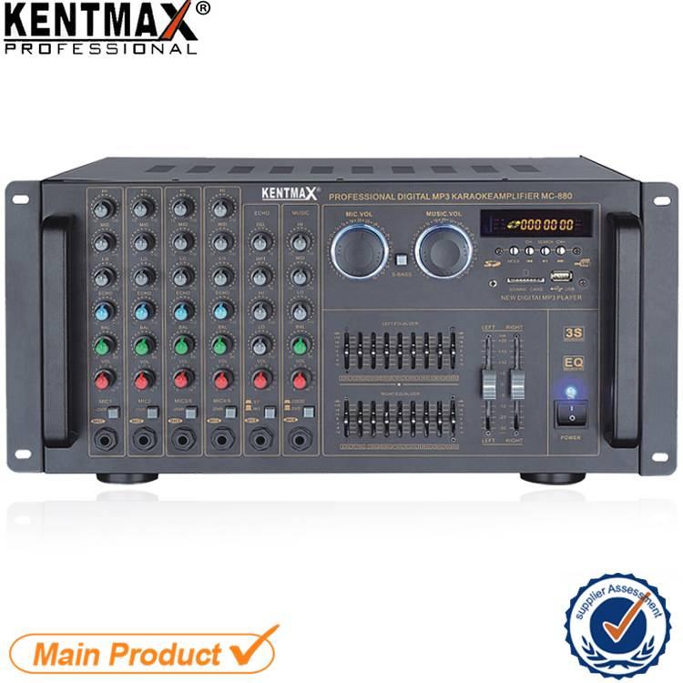 Low Noise Professional 120 Watts 4 Ohms USB Audio Power Mixer Amplifier
