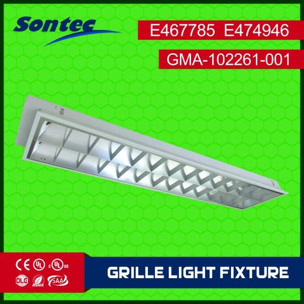Recessed mounted Fluorescent LED T8 tubes grille lamp