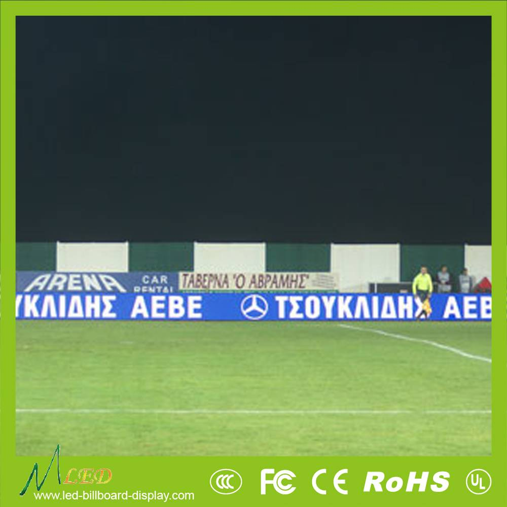 perimeter advertising led display screen for football sports