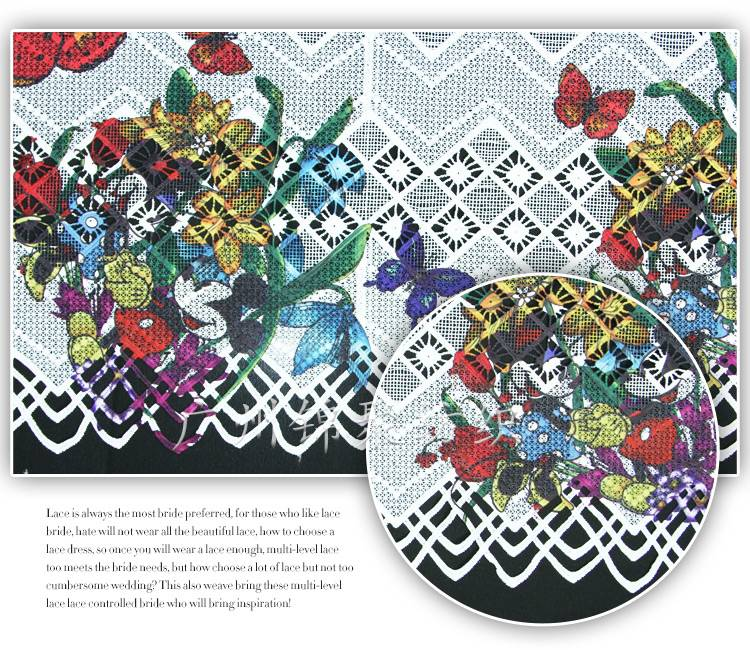 2015 New Arrival Fancy Design Digital Print Lace Fabric
