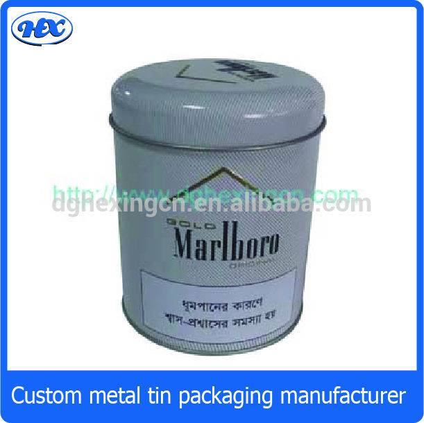 Round tobacco metal package box
