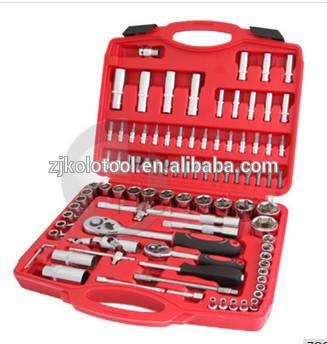 94 pcs Adjustable Blow Case Ratchet Spanner Wrench Socket Set