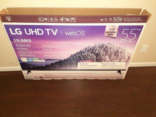 "LG 55"" UHD LED LCD Smart TV ALEXA Google Assistant Hdr 4k 2160p Hdtv New Black +14704086638"