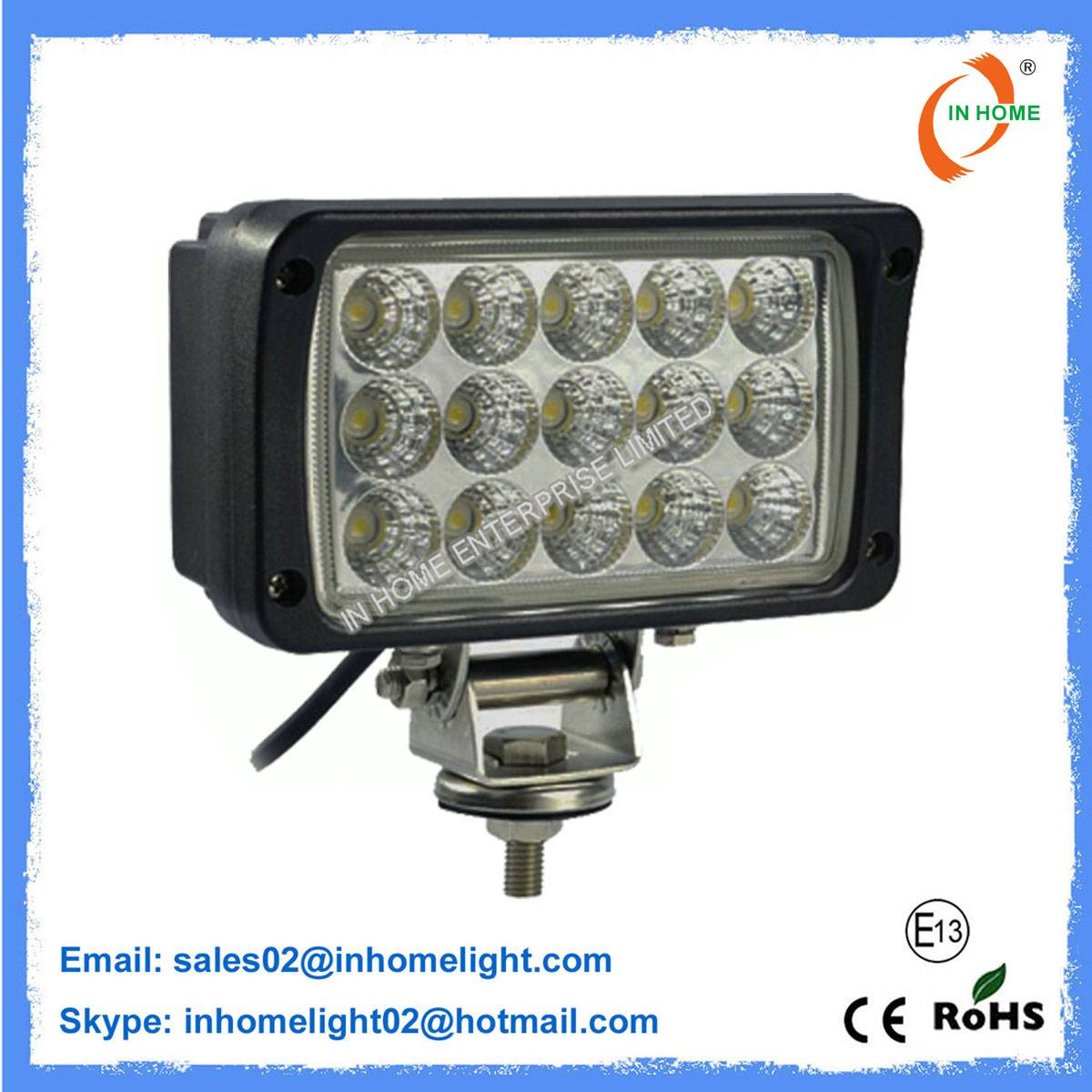 4050LM 15PCs CREE LED Work Lamps 45W Led Driving Lights for Trucks