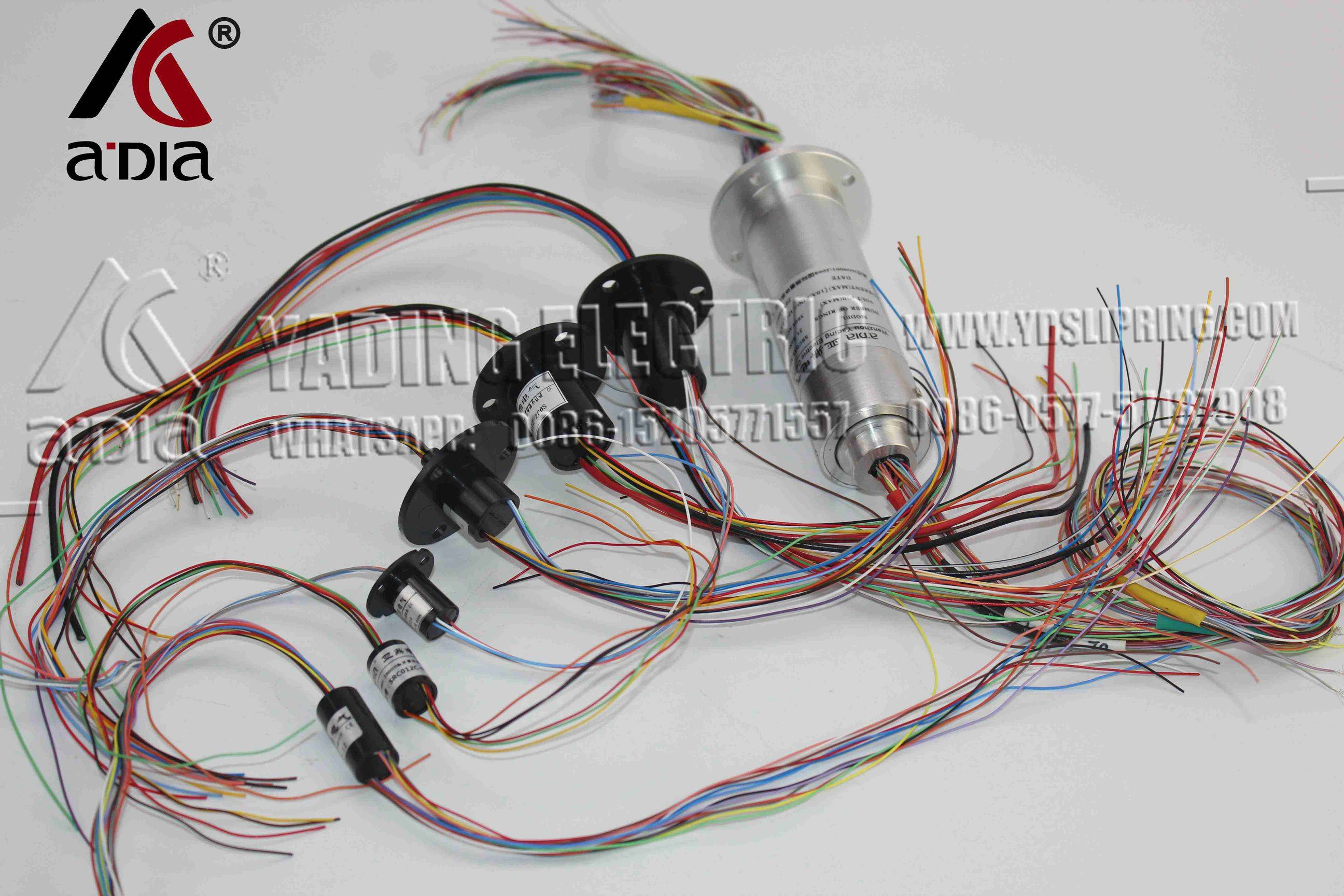 Capsule Slip Ring AC 240V for Monitor Robotic 12.5mm 300Rpm 6 Wires CIRCUITSx2A