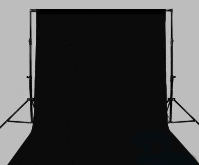 BACKGROUND STAND WITH BLACK BACKDROP