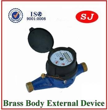 Multi Jet Super Dry Dial Brass Body Water Meter LXSC-15K