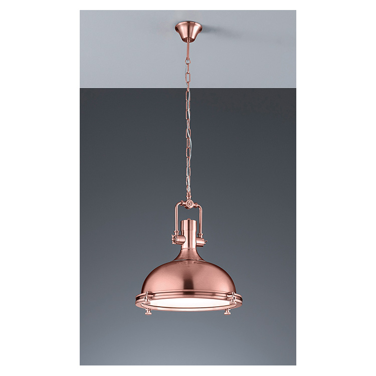 CE Hot Hanging celling lighting Pendant lamp metal shade E26 chrome copper finish