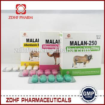 Veterinary parasite drugs albendazole bolus 150mg 250mg 300mg 600mg for cattles sheep goat