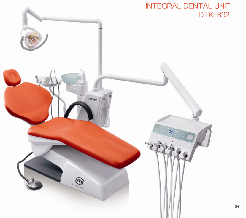 Economic type integral dental chair with sensoroperation lamp and x-film viewer