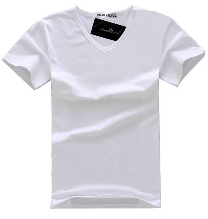 2014 new design v neck pima 100 cotton soft t shirts