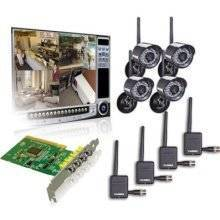 Lorex QLR464WB 4-Channel PCI DVR Card with 4 Digital Wireless Indoor/Outdoor