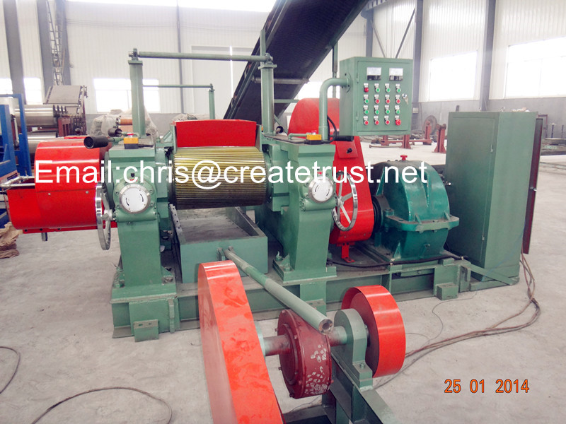 rubber cracker machine/rubber crusher mill