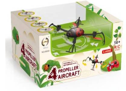 2.4g 6 channel rc aircraft quadcopter
