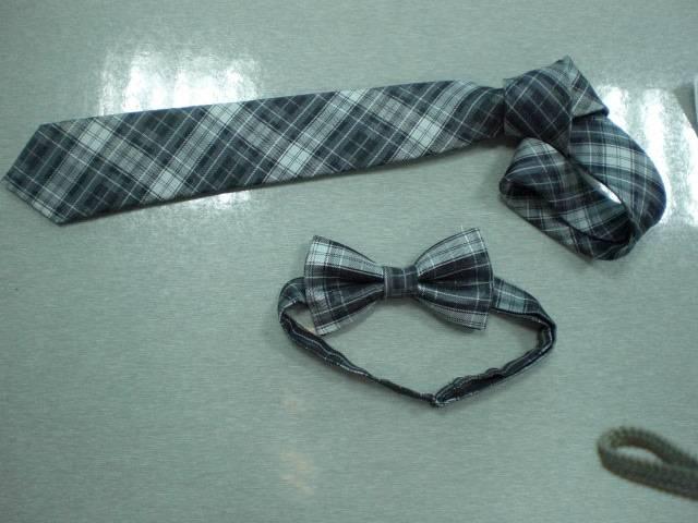 Polyester Stripe Mens Bow Tie(5874)