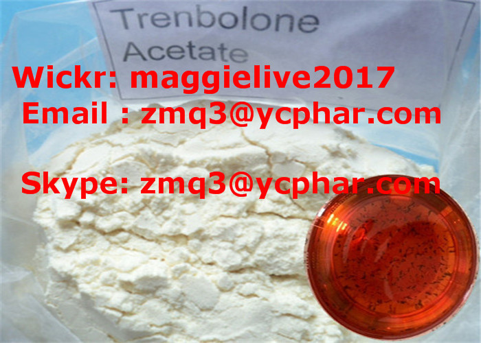 Raw Trenbolone Acetate Muscle Building Steroids Yellow Powder For Cutting Cycle CAS 10161-34-9