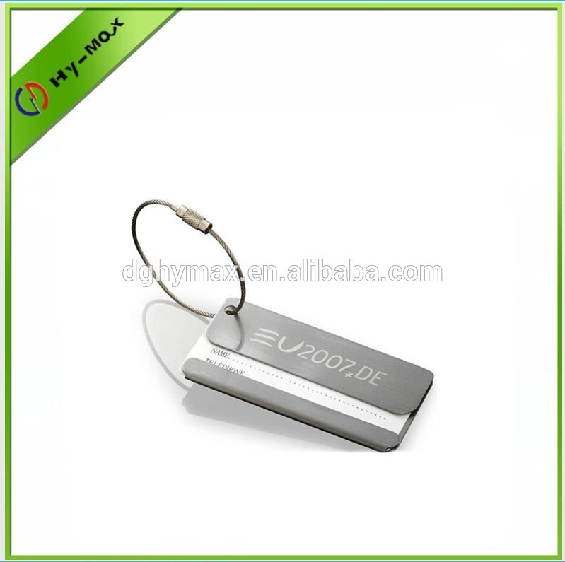 Custom business personalized metal luggage tag