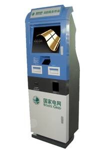 A5 Electricity bill payment and ticking touchscreen kiosk machine for utilities invoicing