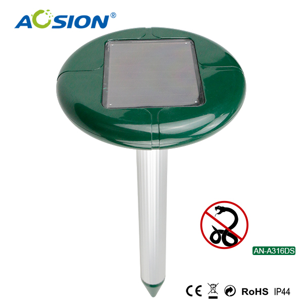Aosion Outdoor Waterproof With Extra Battery Case Solar Sonic Snake Repellent AN-A316DS