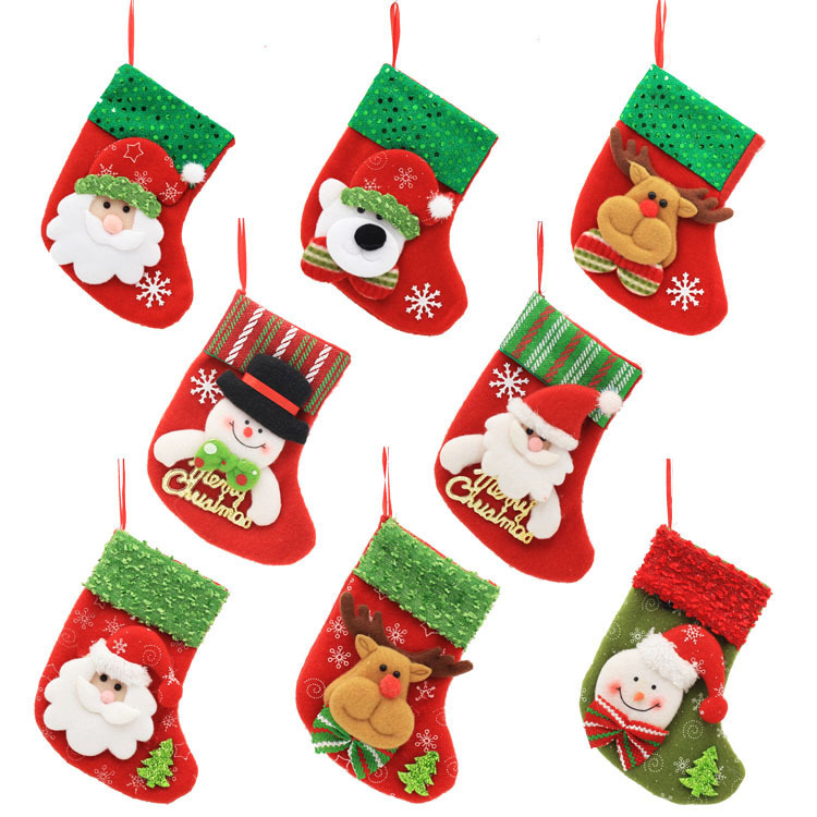 Christmas stocking candy bags for kids and decoration