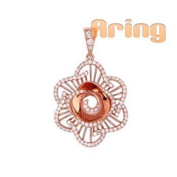 18k Gold Jewelry Diamond pendants Wholesale solid gold jewelry