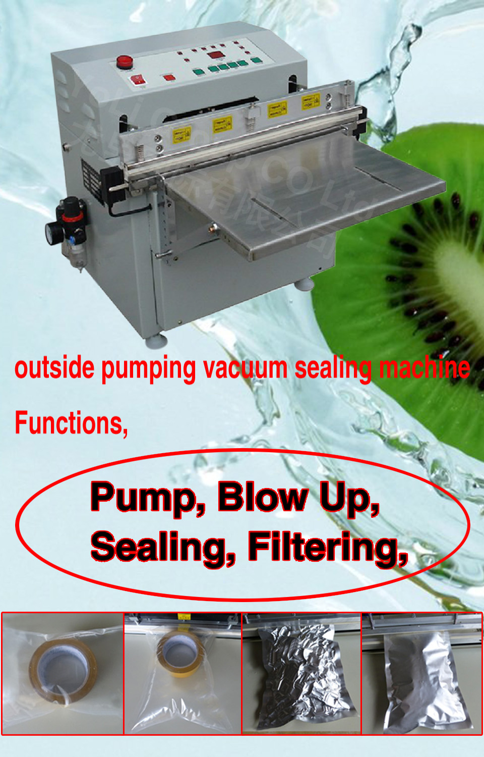 new outside pumping vacuum sealer,vacuum packing sealing machine
