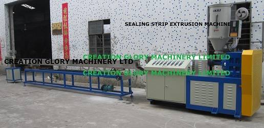 High quality stable running sealing strip plastic extruder machine