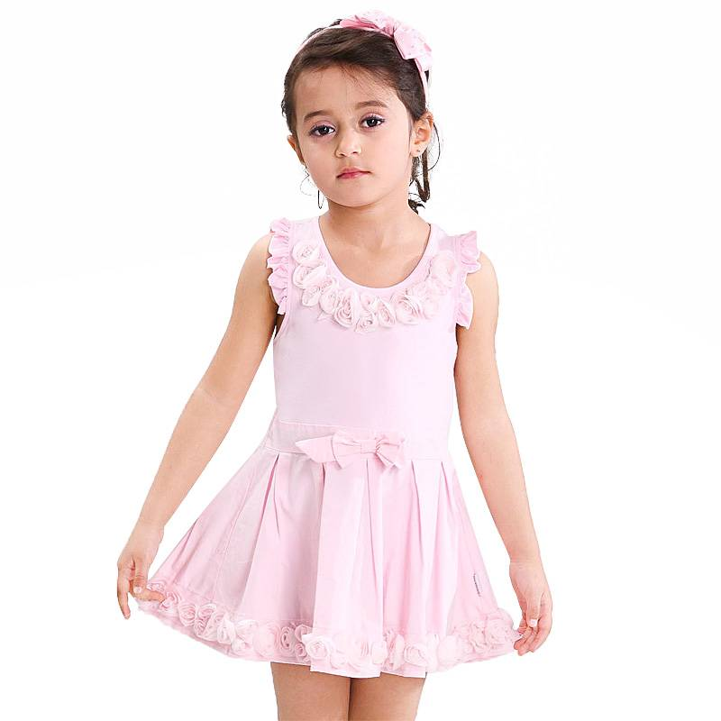 Customized Pink Girl Summer Dress