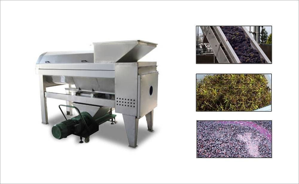 Grape Destemmer And Crusher Machine For Industrial Use