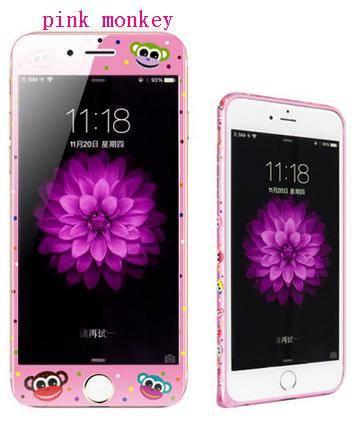 phone tempered glass film pink monkey