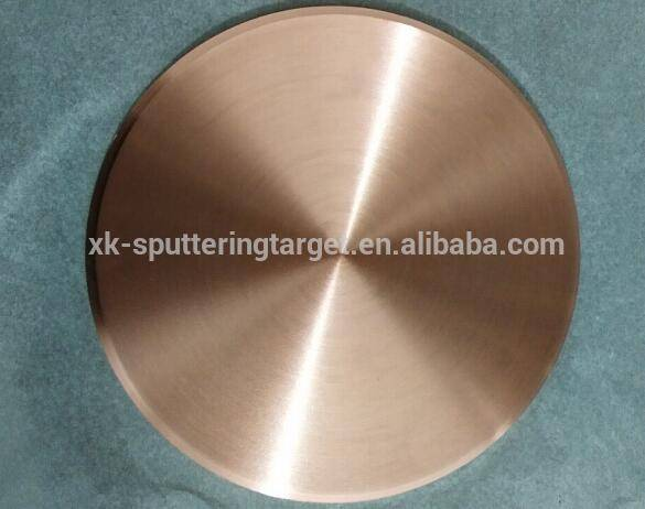 99.99% 4N pure Cu Copper sputtering target with best price