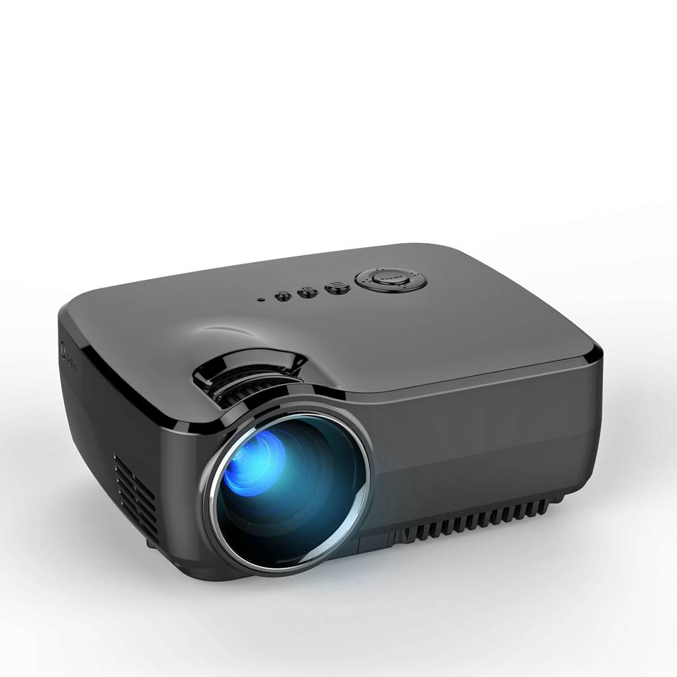 simplebeamer GP70 Portable mini led projector 1200 lumens,support 1080P for home theater by double H