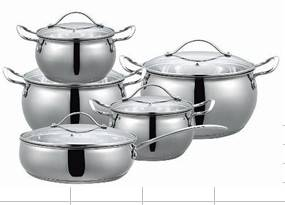 ILKO 12-Piece stainless steel cookware set