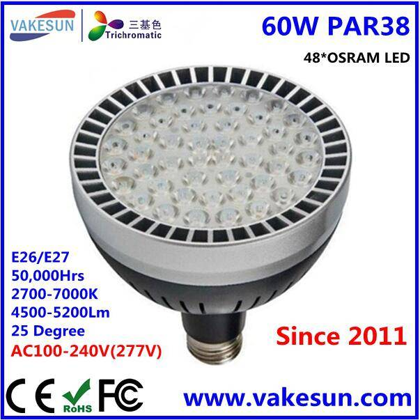 VAKESUN LIGHT 60W PAR38 OSRAM LED AC100-240V CE RoHS