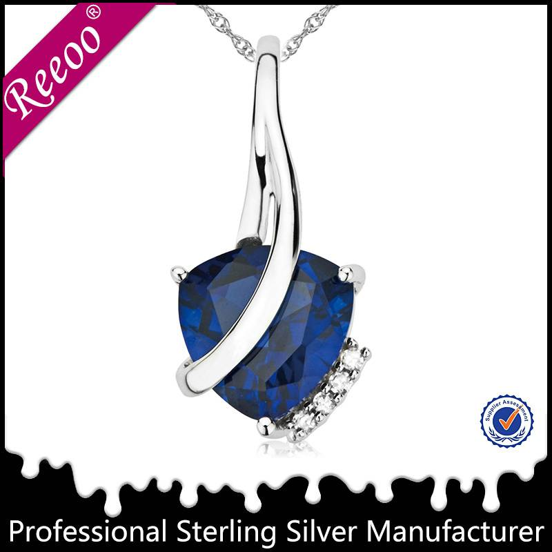 fashionable jewelry 925 sterling silver pendant necklace