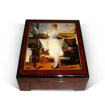 Wooden craft music box RM3004