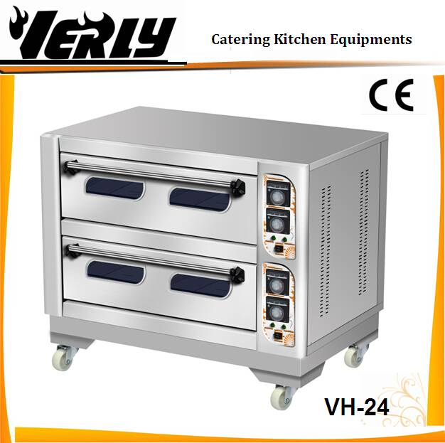 CE certificate 2 tier 4 tray electric deck oven/ bread oven/ electric backing oven