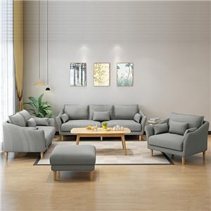 Living room fabric sofa set