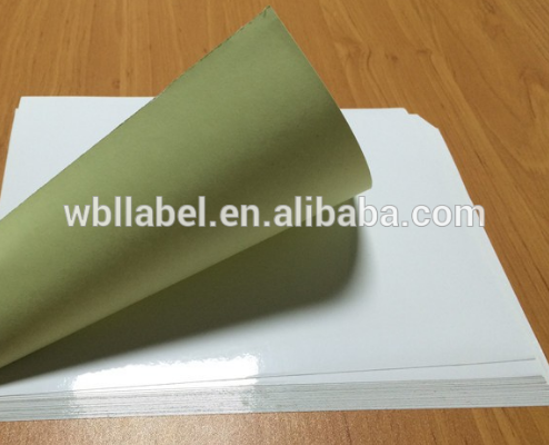 cast coated sticker self adhesive paper in sheets
