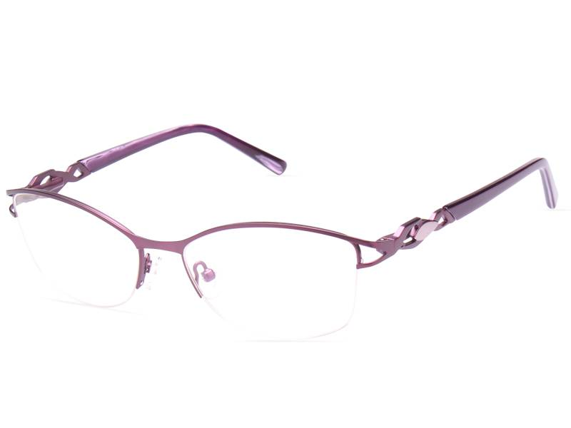 Fashion design flexible super light weight stainless steel metal optical frame ready in stock JC6623