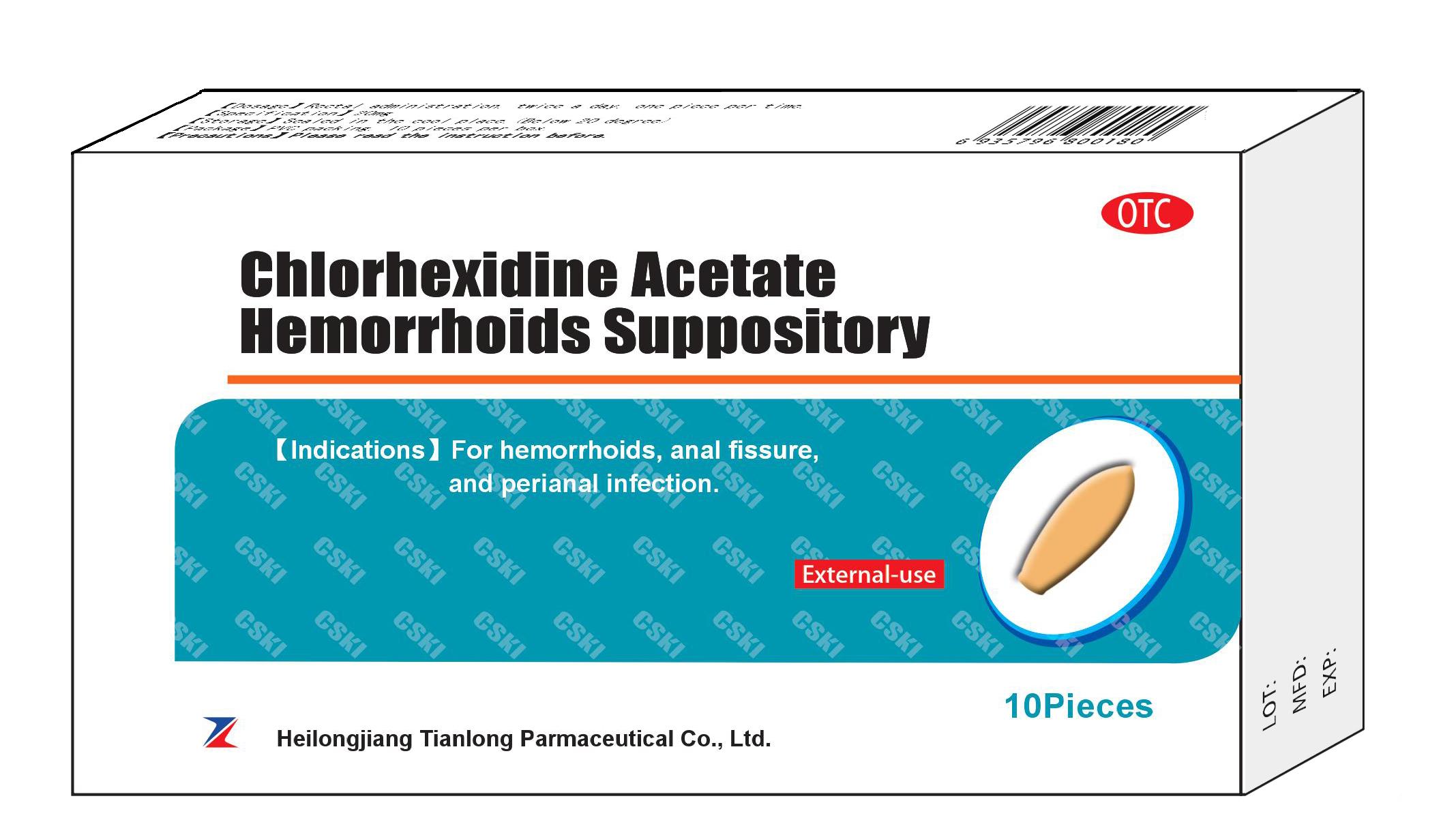 Chlorhexidine Acetate Hemorrhoids