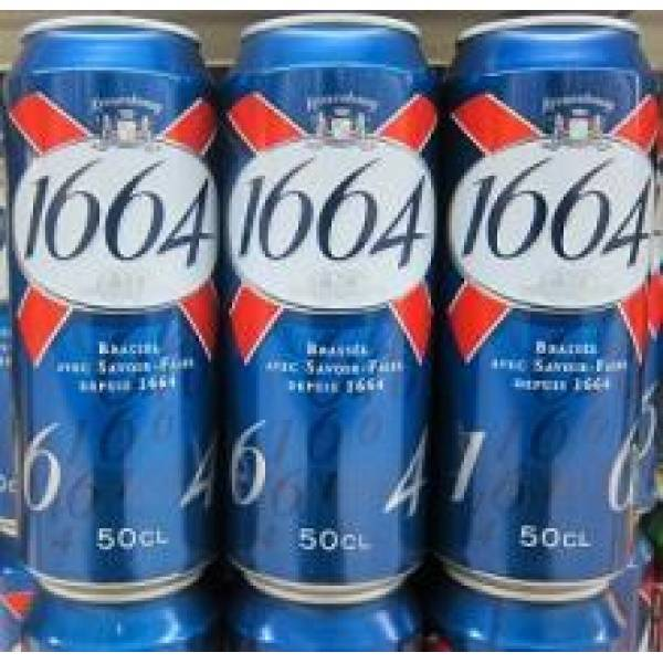 KRONENBOURG BEER 1664 BLANC CAN AND BOTTLE AVAILABLE